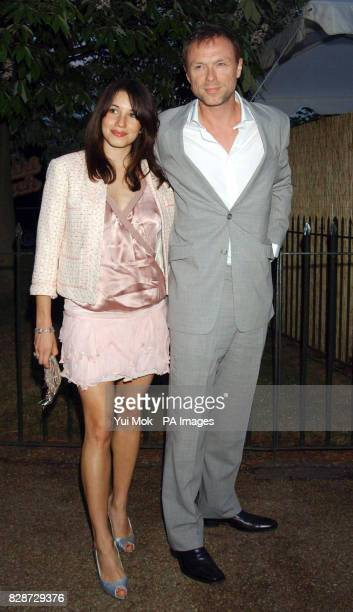 Gary Kemp with his fiancee Lauren Barbour arriving for the Serpentine Gallery Summer Party in Hyde Park London