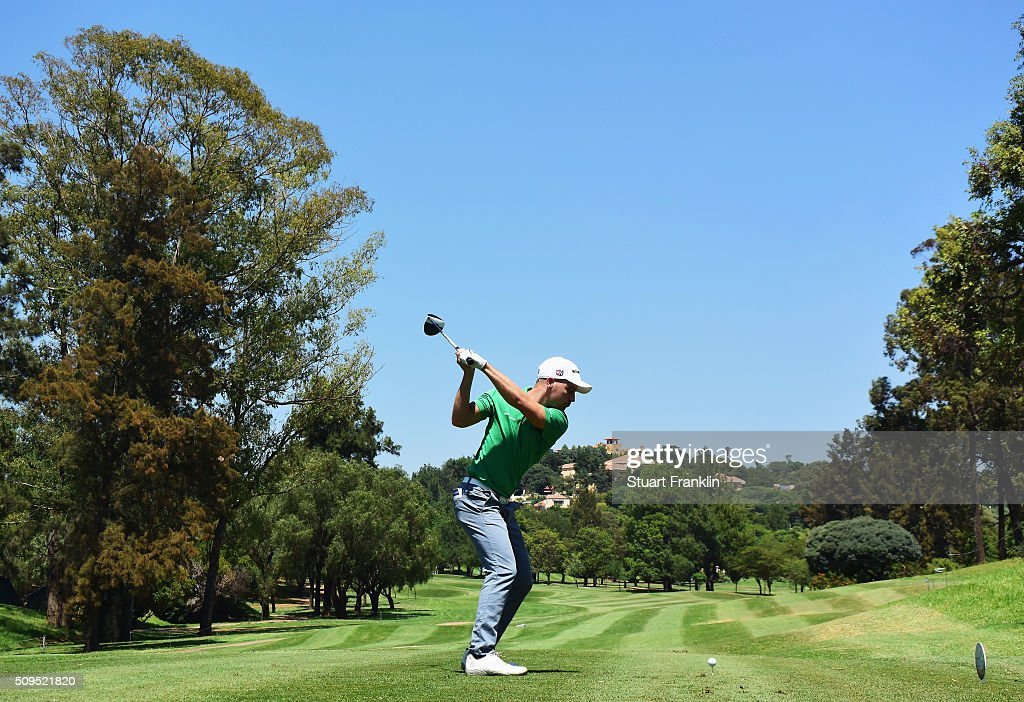 Gary King of England plays a shot during the first round of the Tshwane Open at Pretoria Country Club on February 11, 2016 in Pretoria, South Africa.