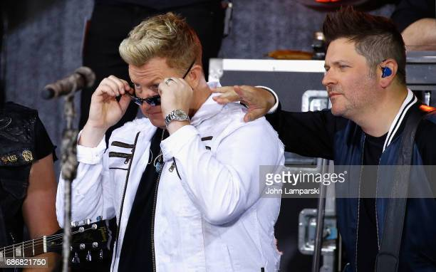 Gary LeVox and Jay De Marcus of Rascal Flatts perform on NBC's 'Today' at Rockefeller Plaza on May 22 2017 in New York City