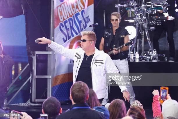 Gary LeVox and Joe Don Rooney of Rascal Flatts perform on NBC's 'Today' at Rockefeller Plaza on May 22 2017 in New York City