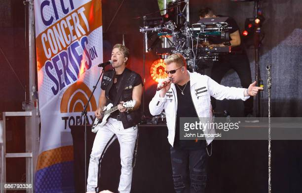 Gary LeVox and Joe Don Rooney of Rascal Flatts performm on NBC's 'Today' at Rockefeller Plaza on May 22 2017 in New York City