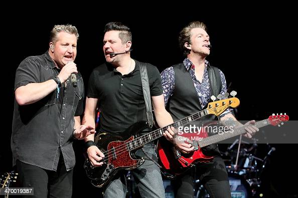 Gary LeVox Jay DeMarcus and Joe Don Rooney of Rascal Flatts perform in concert during the San Antonio Stock Show And Rodeo at the ATT Center on...