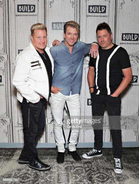 Gary LeVox Joe Don Rooney and Jay DeMarcus attend as Build presents Rascal Flatts promoting their new album at Build Studio on May 22 2017 in New...