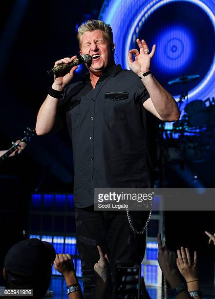 Gary LeVox of Rascal Flatts performs during the Rhythm and Roots Tour 2016 at DTE Energy Music Theater on September 15 2016 in Clarkston Michigan