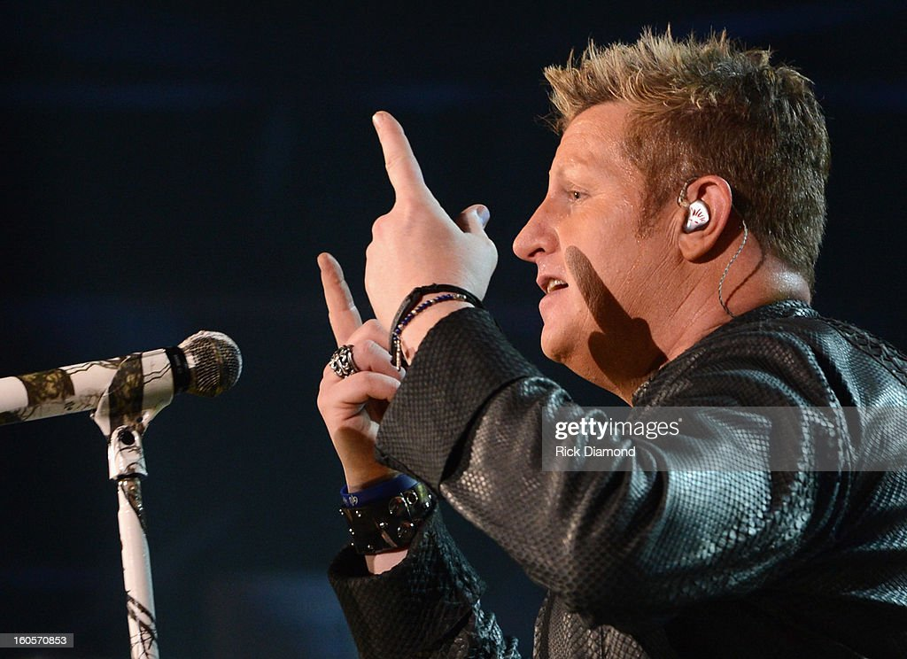 Gary LeVox of Rascal Flatts performs onstage as Journey and Rascal Flatts headline the Super Bowl XLVII CMT Crossroads Concert on February 2, 2013 in New Orleans, Louisiana.
