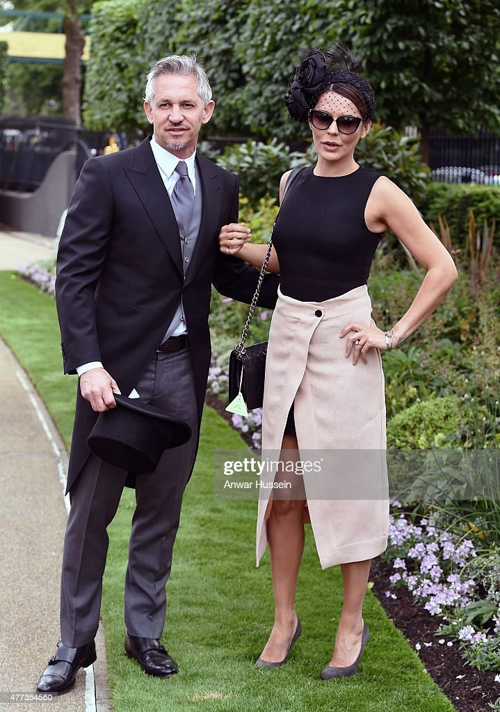 Gary Lineker and Danielle Lineker attend day 1 of Royal Ascot on June 16, 2015 in Ascot, England.