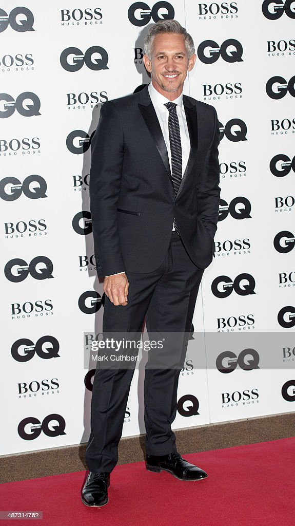 Gary Lineker attends the GQ Men of the Year Awards at The Royal Opera House on September 8, 2015 in London, England.