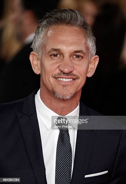 Gary Lineker attends the Royal Film Performance of 'Spectre'at Royal Albert Hall on October 26 2015 in London England