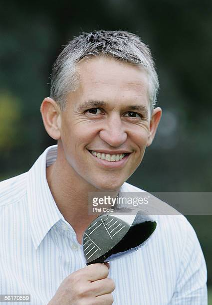 Gary Lineker is announced as the BBC's new face of Golf at a Photocall held at Foxhills Golf Club on November 15 2005 in Ottershaw England