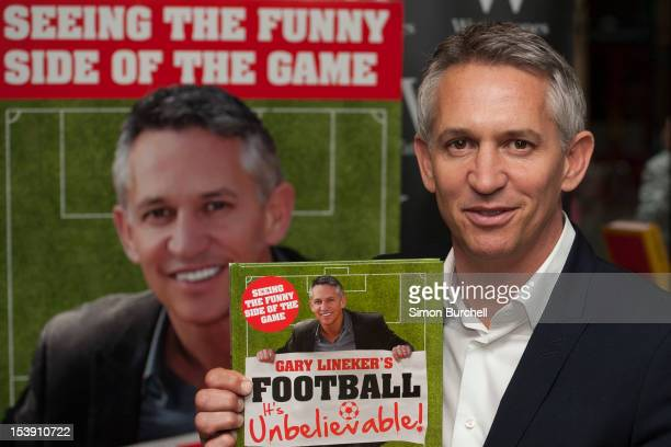 Gary Lineker meets fans and signs copies of his book 'Gary Lineker's Football It's Unbelievable' at Waterstone's Leadenhall Market on October 11 2012...