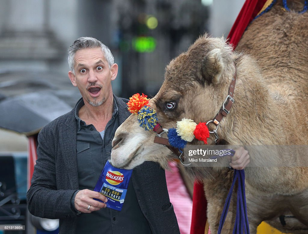 Gary Linker Launches Walkers Spell & Go - Photocall