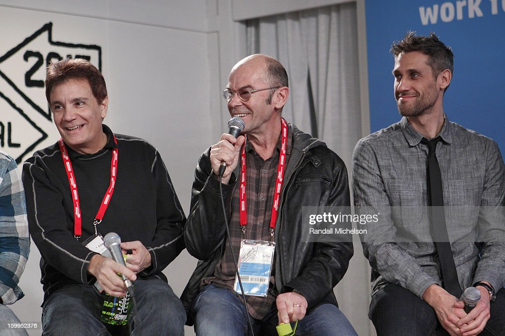 Gary Lionelli, Robert Stone and Rob Simonsen attend the BMI Roundtable at Sundance House on January 23, 2013 in Park City, Utah.