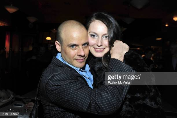 Gary Lippman and Vera Szombathelyi attend NEXT FALL Opening Night at the Helen Hayes Theatre Party at Bond 45 on March 11 2010 in New York City