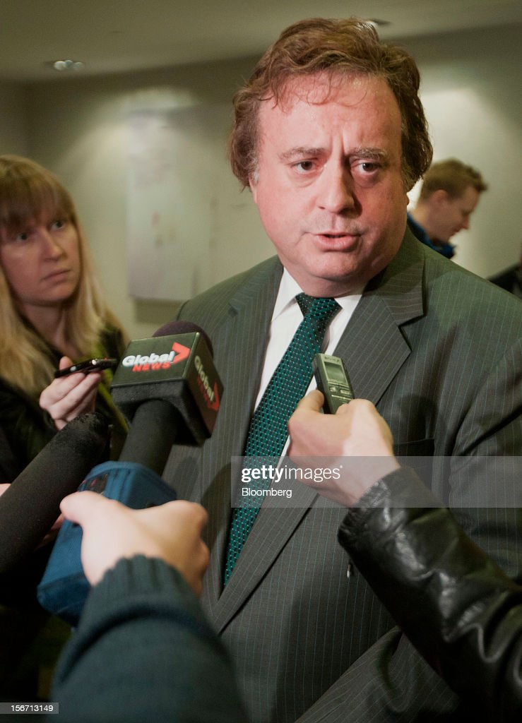"""Gary Loveman, chairman and chief executive officer of Caesars Entertainment Corp., speaks to the media during an event at the Economic Club of Canada in Toronto, Ontario, Canada on Monday, Nov. 19, 2012. Loveman discussed the Ontario Lottery and Gaming Corporation's """"modernization strategy"""" which includes opening a casino in downtown Toronto. Photographer: Norm Betts/Bloomberg via Getty Images"""