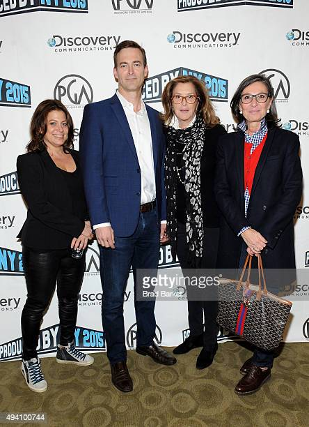 Gary Lucchesi producers Meryl Poster Donna Gigliotti Michael Travers and Paula Weinstein attend PGA Produced By New York Conference at Time Warner...