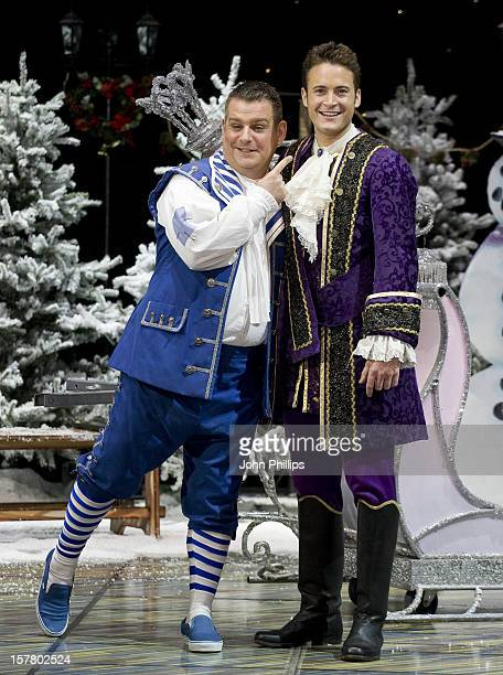 Gary Lucy And Andy Collins During A Photocall To Launch The First Family Entertainment Pantomime Season At The Piccadilly Theatre In Central London