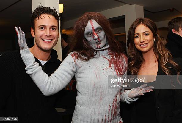 ACCESS** Gary Lucy and Chantelle Houghton attend the launch of SAW Alive the world's most extreme live horror maze at Thorpe Park on March 9 2010 in...