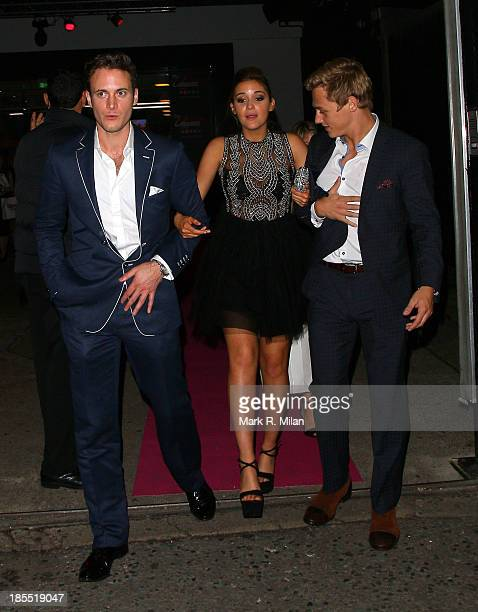 Gary Lucy and Georgia May Foote leaving the Inside Soap Awards on October 21 2013 in London England