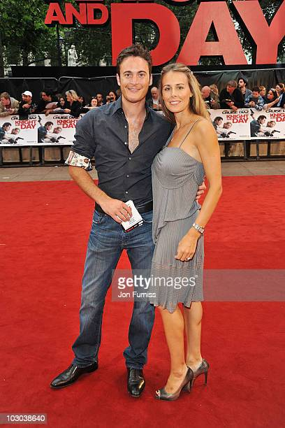 Gary Lucy and Natasha Gray attend the UK Film Premiere of 'Knight And Day' at Odeon Leicester Square on July 22 2010 in London England