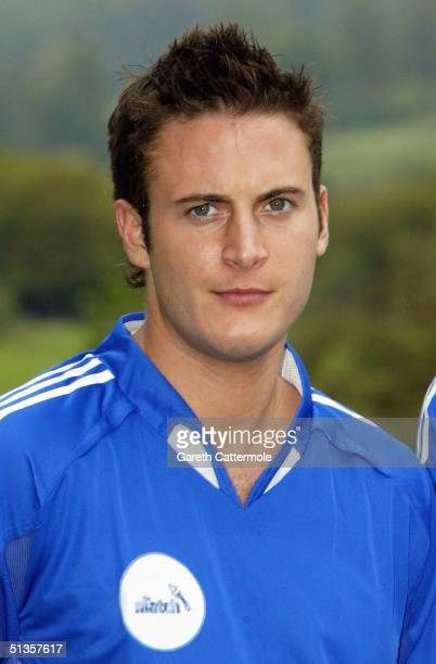 Gary Lucy attends the official launch of the new Sky One reality TV show 'The Match' at Bisham Abbey Sports Centre on September 25 2004 in...