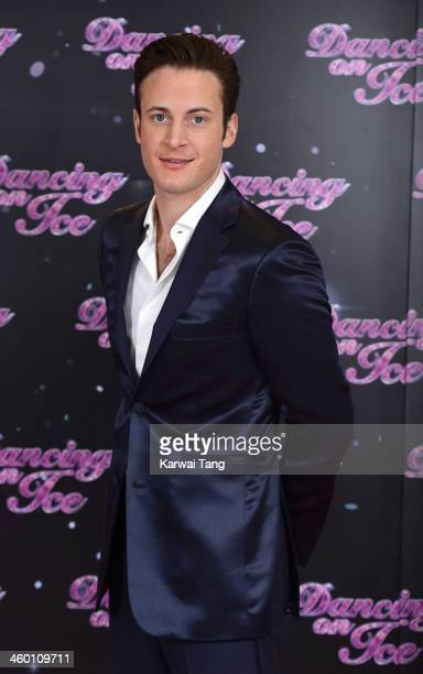 Gary Lucy attends the series launch photocall for 'Dancing on Ice' held at the London Studios on January 2 2014 in London England