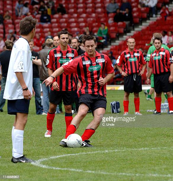 Gary Lucy during Music Industry Soccer Six at Upton Park in London Great Britain