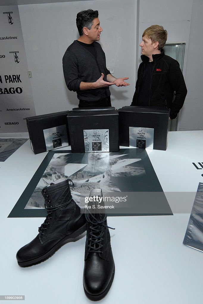 Gary Malamet and Josh Madden attend Sebago and Linkin Park's launch of their collaboration at Reed Space NYC on January 22, 2013 in New York City.