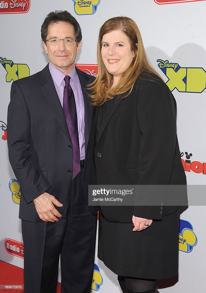 Gary Marsh,president and CEO of Disney channels and Rita Ferro ,executive Vice President of Disney media sales and marketing attend the Disney Channel Kids Upfront 2013 at Hudson Theatre on March 12, 2013 in New York City.