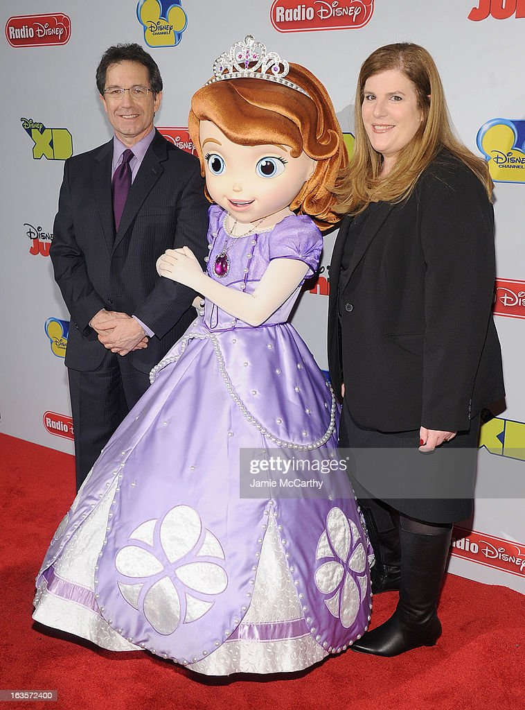 Gary Marsh,president and CEO of Disney channels, Princess Sofia and Rita Ferro ,executive Vice President of Disney media sales and marketing attend the Disney Channel Kids Upfront 2013 at Hudson Theatre on March 12, 2013 in New York City.