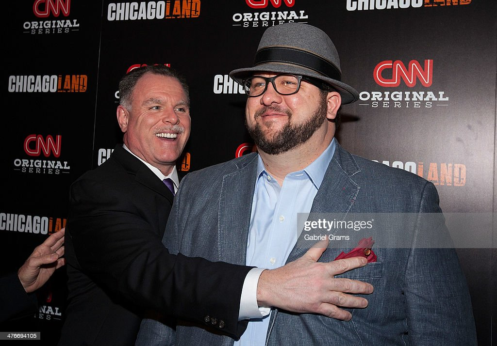 Gary McCarthy and Mark Konkol attend the 'Chicagoland' series premiere at Bank of America Theater on March 4, 2014 in Chicago, Illinois.