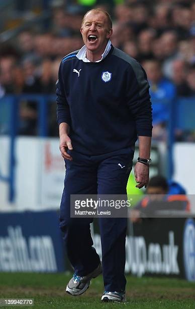 Gary Megson manager of Sheffield Wednesday gives out instructions during the npower League One match between Sheffield Wednesday and Sheffield United...
