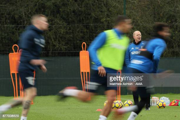 Gary Megson the acting head coach of West Bromwich Albion during a training session on November 21 2017 in West Bromwich England