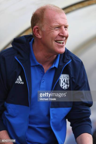 Gary Megson the assistant coach of West Bromwich Albion looks on during the pre season match between Bristol Rovers and West Bromwich Albion at the...