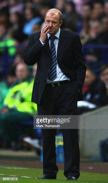 Gary Megson the manger of Bolton Wanderers during the Barclays Premier League match between Bolton Wanderers and Blackburn Rovers at the at Reebok...