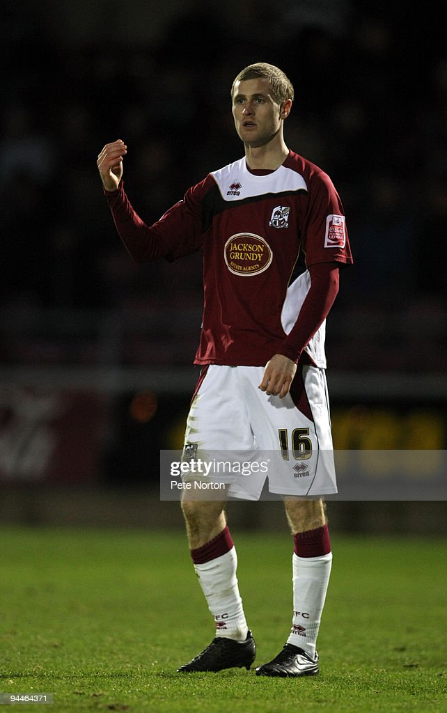 Gary Mulligan of Northampton Town in action during the Coca Cola League Two Match between Northampton Town and Port Vale at Sixfields Stadium on December 12, 2009 in Northampton, England.