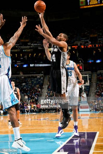 Gary Neal of the San Antonio Spurs shoots in the lane against the New Orleans Hornets on January 7 2013 at the New Orleans Arena in New Orleans...