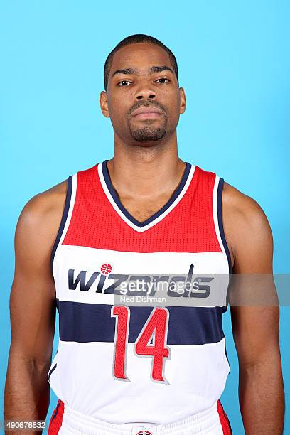 Gary Neal of the Washington Wizards poses for a photo during 2015 media day at the Verizon Center on May 18 2015 in Washington DC NOTE TO USER User...