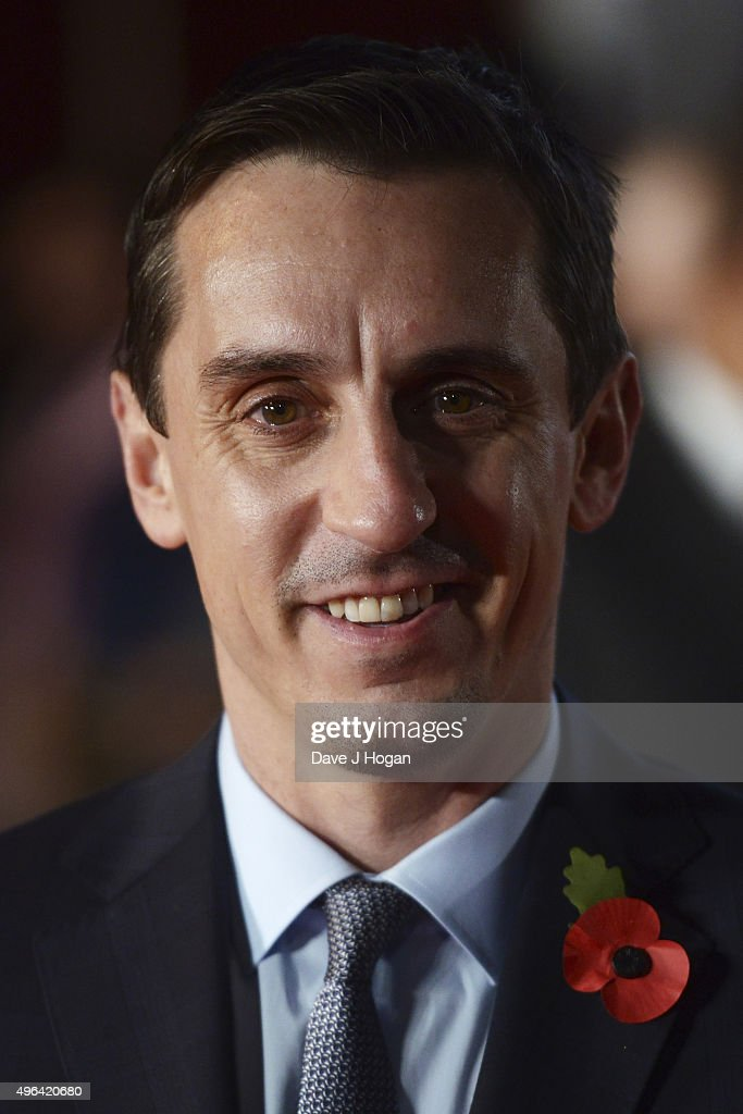 <a gi-track='captionPersonalityLinkClicked' href=/galleries/search?phrase=Gary+Neville&family=editorial&specificpeople=171409 ng-click='$event.stopPropagation()'>Gary Neville</a> attends the World Premiere of 'Ronaldo' at Vue West End on November 9, 2015 in London, England.