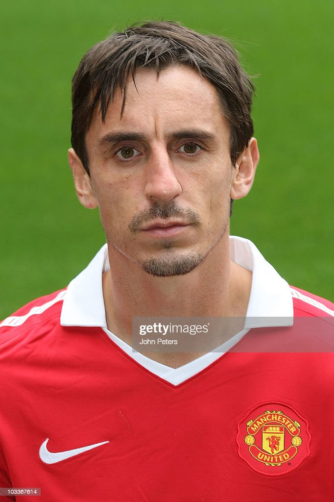 Gary Neville of Manchester United poses at the annual club photocall at Old ...