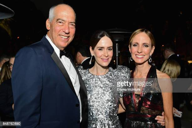 Gary Newman Sarah Paulson and Dana Walden attend FOX Broadcasting Company Twentieth Century Fox Television FX And National Geographic 69th Primetime...