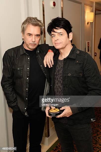 Gary Numan and Jean Michel Jarre attend the Q Awards at The Grosvenor House Hotel on October 19 2015 in London England