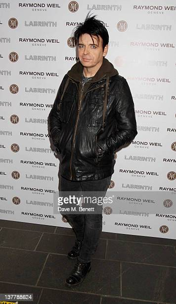 Gary Numan attends the Raymond Weil PreBrit Awards Dinner hosted by Labrinth at Mosaica The Chocolate Factory on January 26 2012 in London England