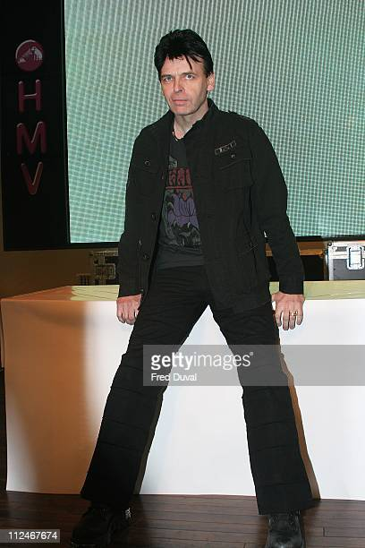 Gary Numan during Gary Numan InStore for his Album 'Jagged ' at HMV in London March 13 2006 at HMV in London in London United Kingdom