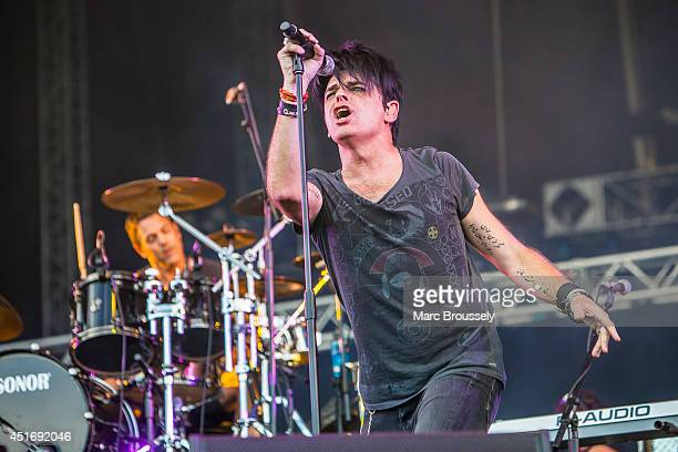 Gary Numan performs on stage at Sonisphere at Knebworth Park on July 4 2014 in Knebworth United Kingdom