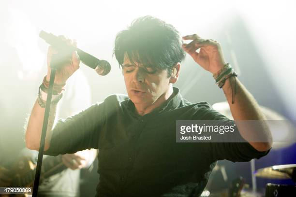 Gary Numan performs on stage at the Hype Hotel during the SXSW festival on March 15 2014 in Austin Texas