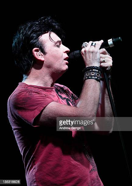 Gary Numan performs on stage during sound check at HMV on December 8 2011 in Manchester United Kingdom