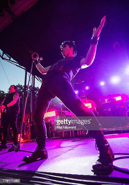 Gary Numan performs on stage during the Bumbershoot Music Festival at Seattle Center on August 31 2013 in Seattle Washington