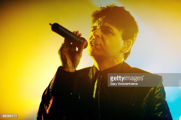 Gary Numan performs on stage during The Pleasure Principle Tour at the Corporation on November 20 2009 in Sheffield England