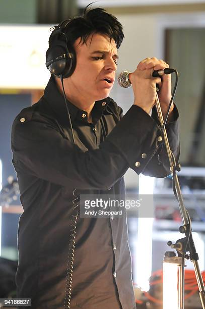 Gary Numan performs on stage for BBC Radio 6 Music at BBC Maida Vale Studios on December 7 2009 in London England