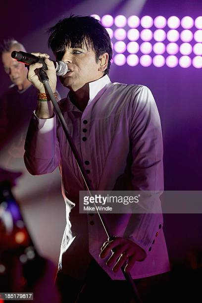 Gary Numan performs onstage at The Masonic Lodge at Hollywood Forever on October 17 2013 in Los Angeles California